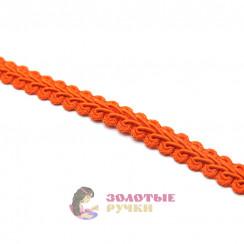 """Тесьма отделочная """"Шанель"""", ширина 15 мм, в упаковке 18 метров, цвет светло-оранжевый"""