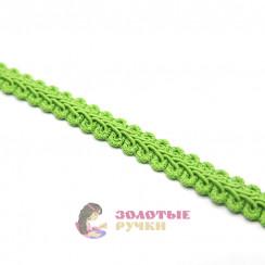 """Тесьма отделочная """"Шанель"""", ширина 15 мм, в упаковке 18 метров, цвет светло-зеленый"""