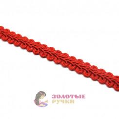 """Тесьма отделочная """"Шанель"""", ширина 15 мм, в упаковке 18 метров, цвет красный"""