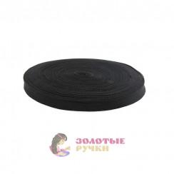 Тесьма брючный в рулоне 50 метров цвет черный