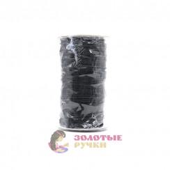 Резинка шляпная, диаметр 2 мм черная