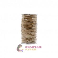 Резинка шляпная, диаметр 2,5 мм цвет коричневый