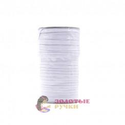 Резинка в бобина по 100 метров, ширина 10 мм белая