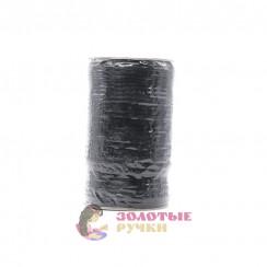 Резинка в бобина по 100 метров, ширина 6 мм черная