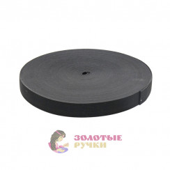 Резинка в рулонах по 40 метров, ширина 25 мм черная