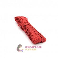 Вьюнчик красный с люрексом, в упаковке 20 метров