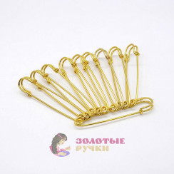 Булавки шляпные золото 50 мм