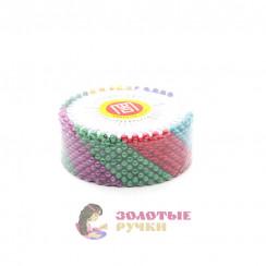 Булавки на пластине с цветными головками