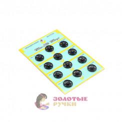 Кнопка пришивная, металлическая, диаметр 25 мм черный