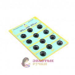 Кнопка пришивная, металлическая, диаметр 19 мм цвет черный