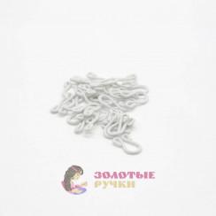 Крючки бельевые с пет. большие обтянутые тканью в упаковке 20 шт - цвет белый