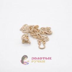 Крючки бельевые с пет. большие обтянутые тканью в упаковке 20 шт- цвет бежевый