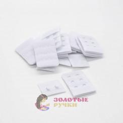 Удлинитель для бюстгальтера 2-х рядный в упаковке 10 комплект цвет белый