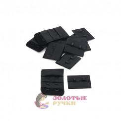 Удлинитель для бюстгальтера 2-х рядный в упаковке 10 комплект цвет черный