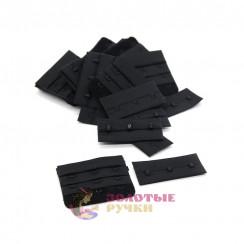 Удлинитель для бюстгальтера 3-х рядный в упаковке 10 комплект цвет черный