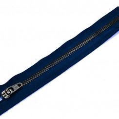Молния джинсовая тем зуб тип 5. 18 см замок полуавтомат- цвет темно синий
