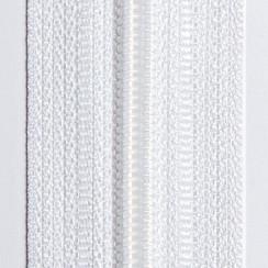 Молния юбочная тип-3 (полуавтомат) 20 см - цвет белый