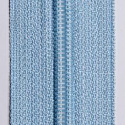 Молния юбочная тип-3 (полуавтомат) 20 см - цвет голубой