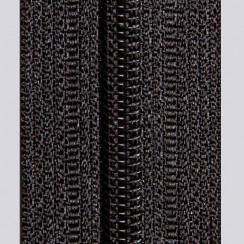 Молния юбочная тип-3 (полуавтомат) 20 см - цвет чёрный