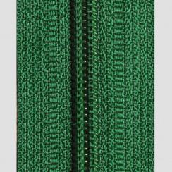 Молния юбочная тип-3 (полуавтомат) 20 см - цвет зелёный
