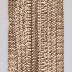 Молния юбочная тип-3 (полуавтомат) 20 см - цвет бежевый