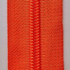 Молния юбочная тип-3 (полуавтомат) 20 см - цвет темно оранжевый