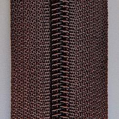 Молния юбочная тип-3 (полуавтомат) 20 см - цвет коричневый