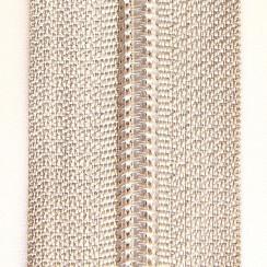 Молния юбочная тип-3 (полуавтомат) 20 см - цвет молочный