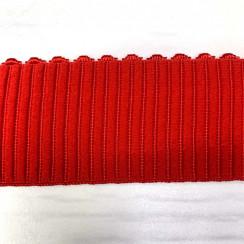 """Резинка декоративная """"вертикальная полоса"""" (уп. 25 ярд) ширина 44 мм красный"""