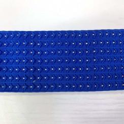 Лента эластичная декоративная с люрексом (резинка) (уп 10 м) ш.70 мм синий василёк