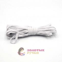 """Резинка продежка ширина 10 мм по 5 м  белая """"Ковровская"""" в уп 20шт"""