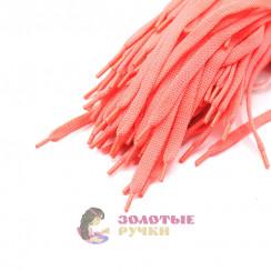 Шнурки кроссовочные, длина - 100 см, ширина - 17 мм, (уп 50 пар )  цвет розовый