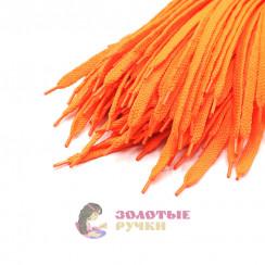 Шнурки кроссовочные, длина - 100 см, ширина - 17 мм,  (уп 50 пар ) цвет оранжевый