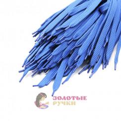 Шнурки кроссовочные, длина - 100 см, ширина - 17 мм,  (уп 50 пар ) цвет синий