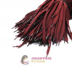 Шнурки кроссовочные, длина - 100 см, ширина - 17 мм,  (уп 50 пар ) цвет бордовый