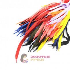 Шнурки кроссовочные, длина - 100 см, ширина - 17 мм,  (уп 50 пар )  цвет ассорти