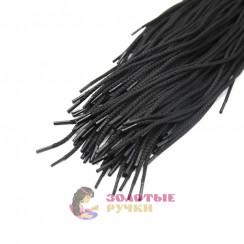 Шнурки тип 0, длина - 100 см, черный, диаметр 4 мм  (уп 50 пар )