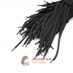 Шнурки, 100 см, черные с наполнителем, диаметр 7 мм  (уп 50 пар )