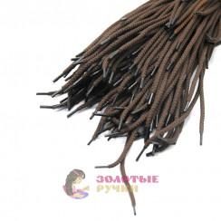 Шнурки, 100 см, коричневый с наполнителем, диаметр 7 мм  (уп 50 пар )