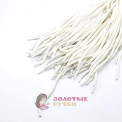 Шнурки, 150 см, белый с наполнителем, диаметр 7 мм  (уп 50 пар )