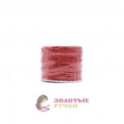Шнур вощеный, диаметр 1мм (упаковка - 70 ярд) - цвет красный