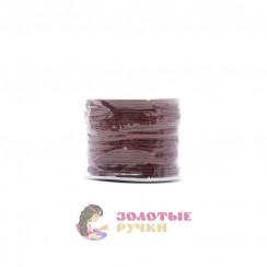 Шнур вощеный, диаметр 1мм (упаковка - 70 ярд) - цвет бордовый