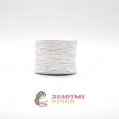 Шнур вощеный, диаметр 1мм (упаковка - 70 ярд) - цвет белый