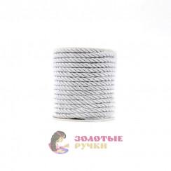 Шнур витой, диаметр 8 мм серебро