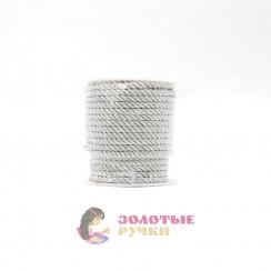 Шнур витой, диаметр 4 мм серебро