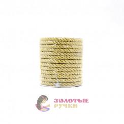 Шнур витой, диаметр 4 мм золото
