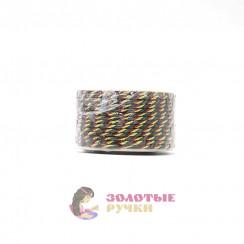 Шнур витой двухпрядный, диаметр 3 мм (золото) - цвет зеленый и бордовый