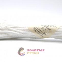 Шнур бытовой полиэфирный, 3 мм, белый (20 метров)