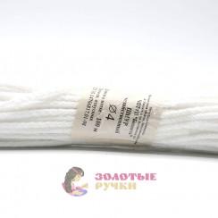 Шнур бытовой полиэфирный, 4 мм, белый (30 метров)
