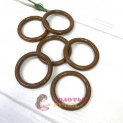 Кольца для штор d-38мм 50шт, цвет светло коричневый
